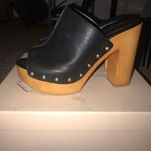 Used BCBG BG-KARENA heels size 8.5 black.